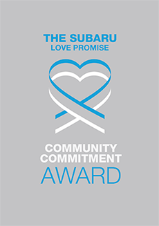 The 2019 Subaru Love Promise Community Commitment Award